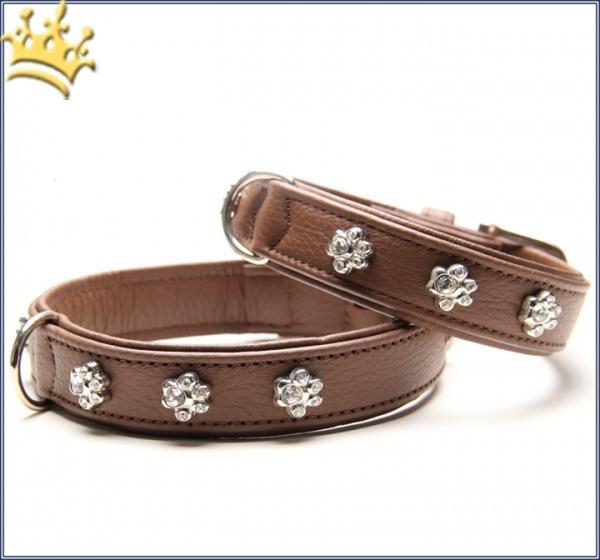 Hundehalsband Luxury Paw Braun
