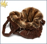 TG&L Hundetasche Bellagio Chinchilla Vintage Brown