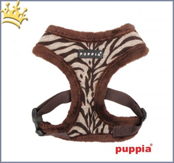 Puppia Softgeschirr Modern Zebra Braun