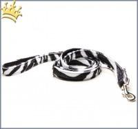 Fell-Leinen Zebra Schwarz