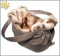 TG&L Hundetasche Monte Carlo Greyge Nubukoptik Chinchilla Braun