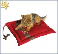 Hundedecke Coussin Love Rouge