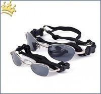 K9 Optik Sonnenbrille Schwarz / Silber