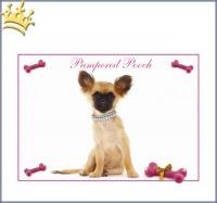 Hundenapfunterlage Chihuahua Pink