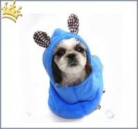 Hundebadecape Blau