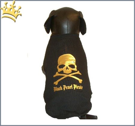 Hunde-Shirt Black Pearl Pirate
