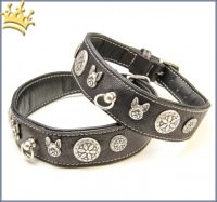 Malucchi Hundehalsband Imperial Bulldogge Schwarz
