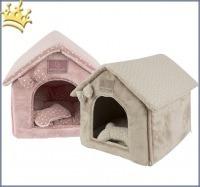 Pinkaholic New York Hundehöhle Luna House Rosa und Beige