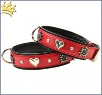 Hundhalsband St. Luc Deluxe Very Big Rot-Schwarz