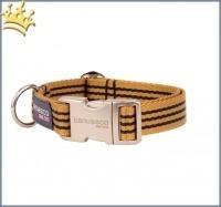 Canvasco Hundehalsband Ben Cognac Alu Klein