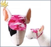 Hundebasecap Camouflage Pink