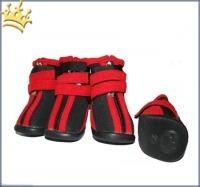 Hundeschuhe Neopren Sport Black/Red