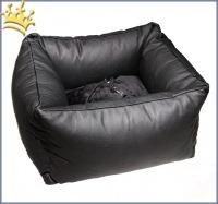 TG&L Hunde-Autositz Fur Drive Schwarz Prestige