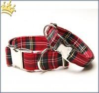 Hundehalsband Tartan-Look
