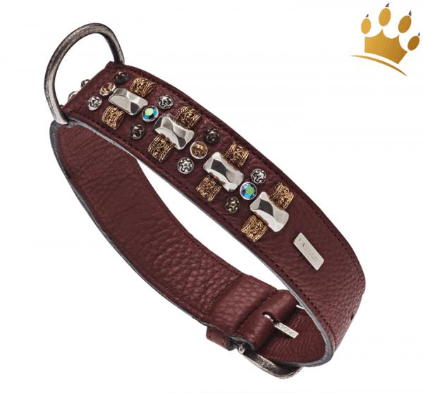 Malucchi Hundehalsband Petra 4cm Braun
