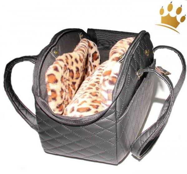Hundetasche Travel de Luxe Black Leo