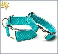 Hundehalsband Little Dotty Türkis