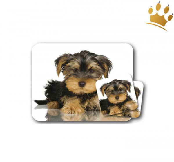 Mousepad & Untersetzer Yorkshire Terrier 3er-Set