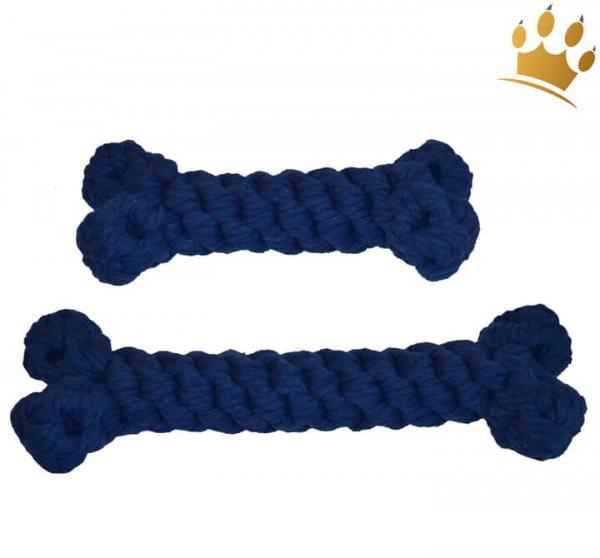 Hundespielzeug Tau-Knochen Blau