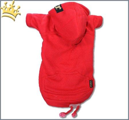 Hundesweatshirt Uni Rot
