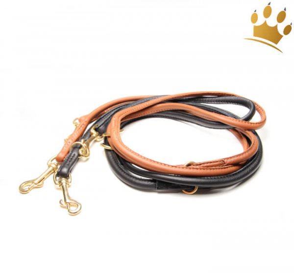 Hundelederleine Rundgenäht 200cm