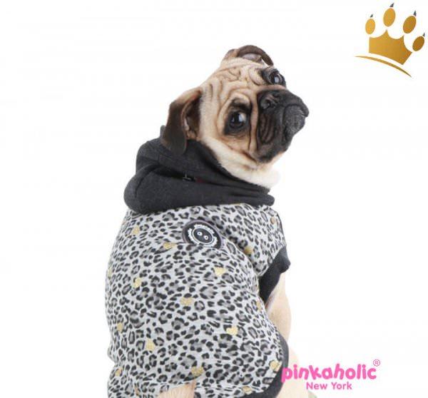 Pinkaholic Hundpullover Leo Pug II Schwarz