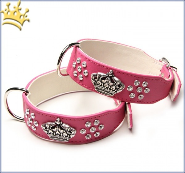 Hundehalsband Crown Deluxe Pink Lady