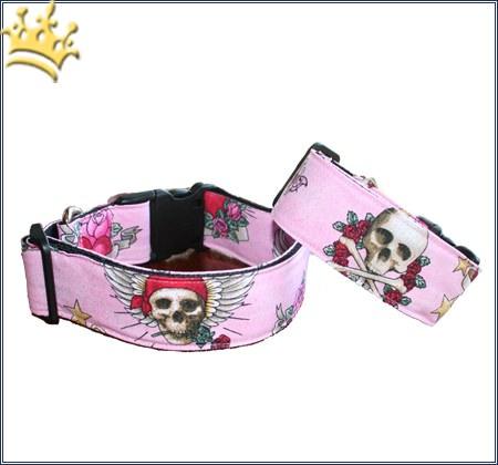 Hundehalsband Skull for Roses