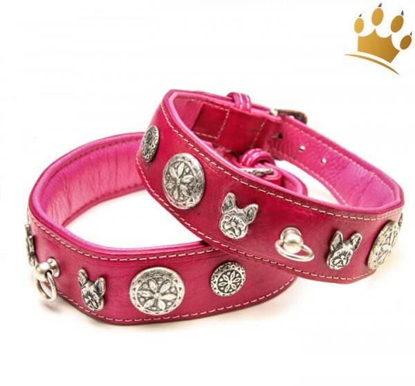 Malucchi Hundehalsband Imperial Bulldogge Pink