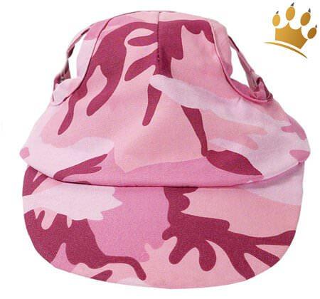Hundebasecap Camo Pink