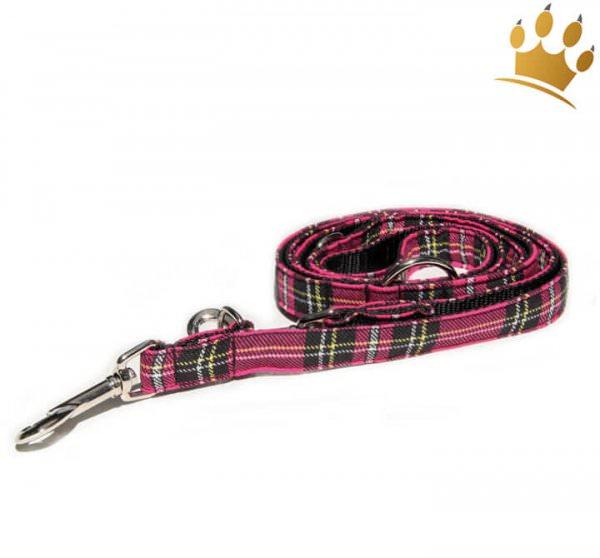 Hundeleine Tartan Pink