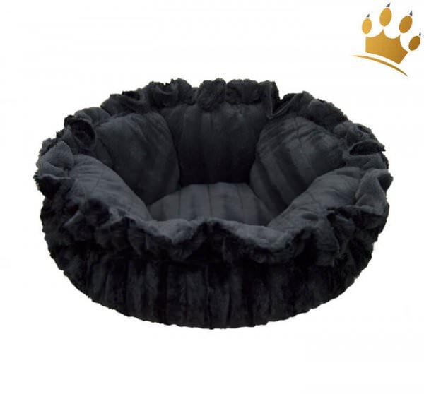 Hundebett Bessie & Barnie Cuddle Pod - Gravel Stone - Black Puma