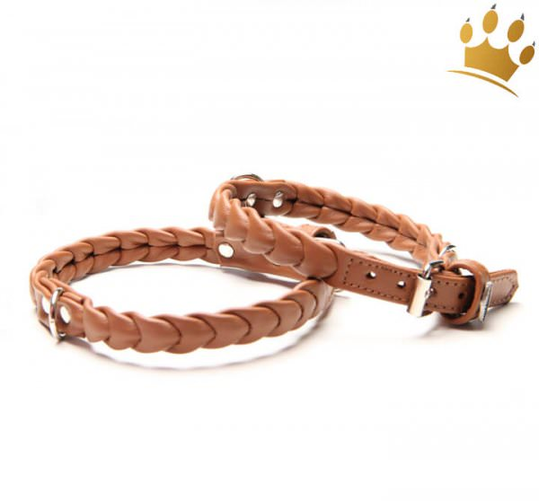 Hundehalsband Ascot Petit Cognac