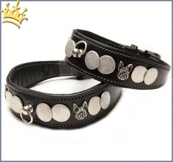 Malucchi Hundehalsband Ratier Bulldogge Schwarz