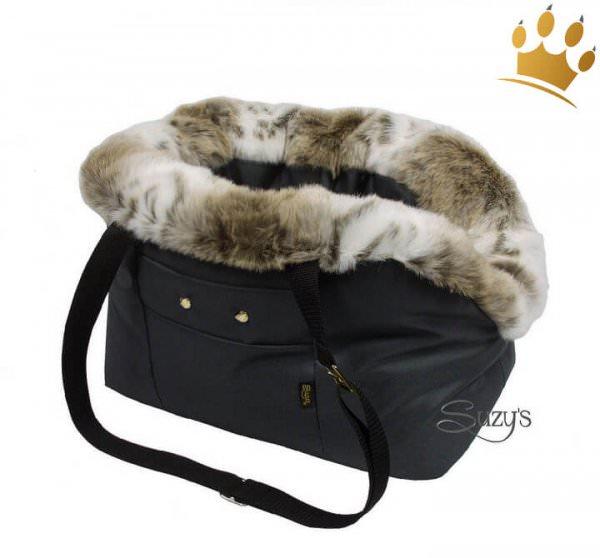 Hundetasche Cocco Schwarz Fur