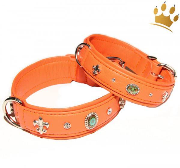 Hundehalsband Ibiza 80 Deluxe Orange