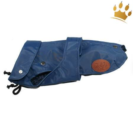 Hunde-Regenmantel Pioggia 2 in 1 Blau