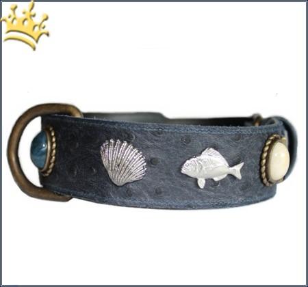 Hunde-Lederhalsband Poseidon