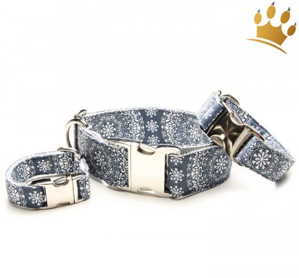 Hundehalsband Mandalas Royalblau