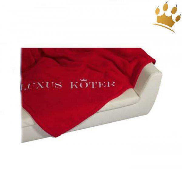 Hundedecke Luxusköter Rot / Champagner