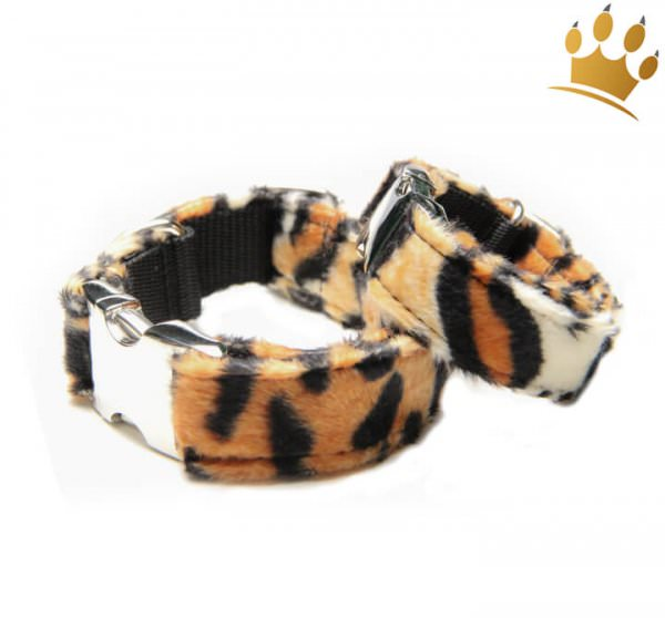 Fellhalsband Leopard Deluxe