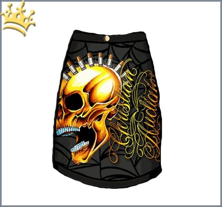 Christian Audigier T-Shirt Skull Punk