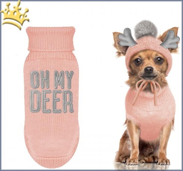 Milk & Pepper Hundepullover Deer Rose