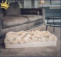 Hundebett mit Decke Beige