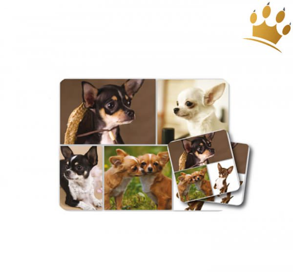 Mousepad & Untersetzer Chihuahua 3er-Set