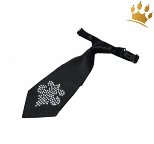 Hundeschlips Fleur Black
