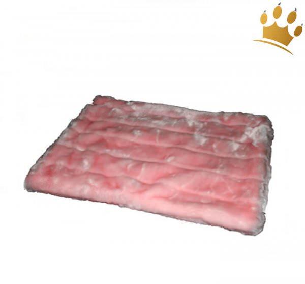 Hunde Cuddle Plaid Shiny Pink