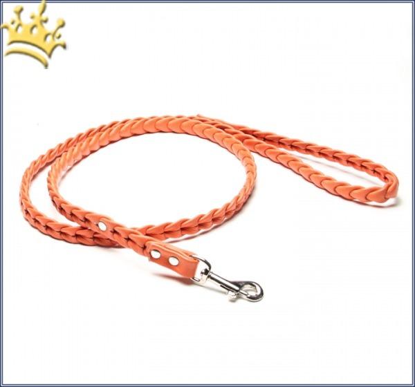 Hundeleine Leder Ascot Orange 115cm