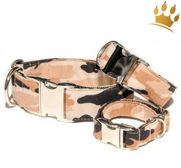 Hundehalsband Camouflage Deluxe Beige