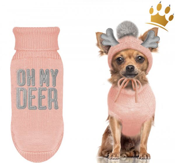Milk & Pepper Hundepullover Deer Rose